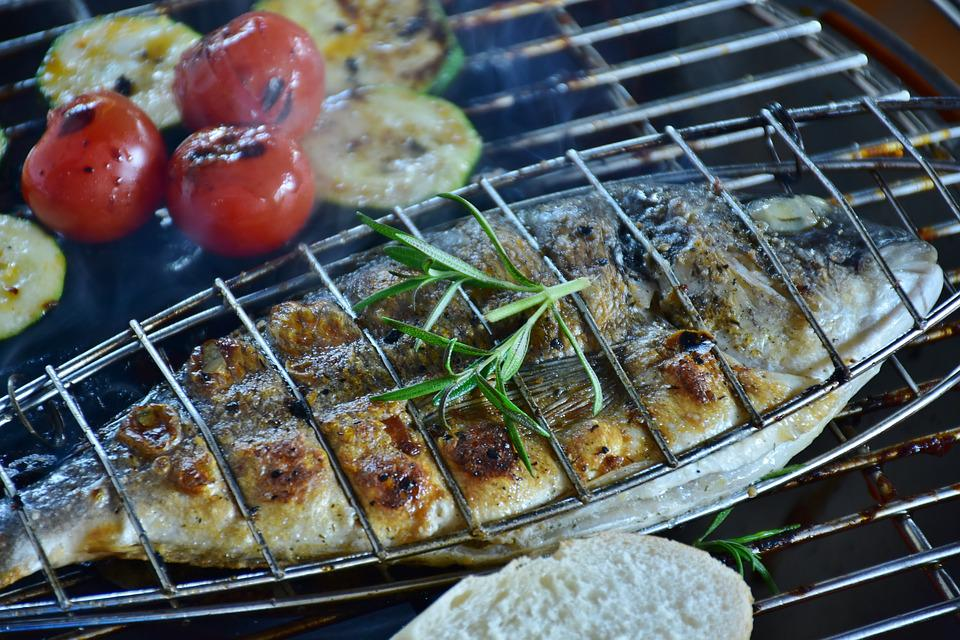 Fish, Sea Bream, Barbecue, Grilled, Food, Dine, Eat