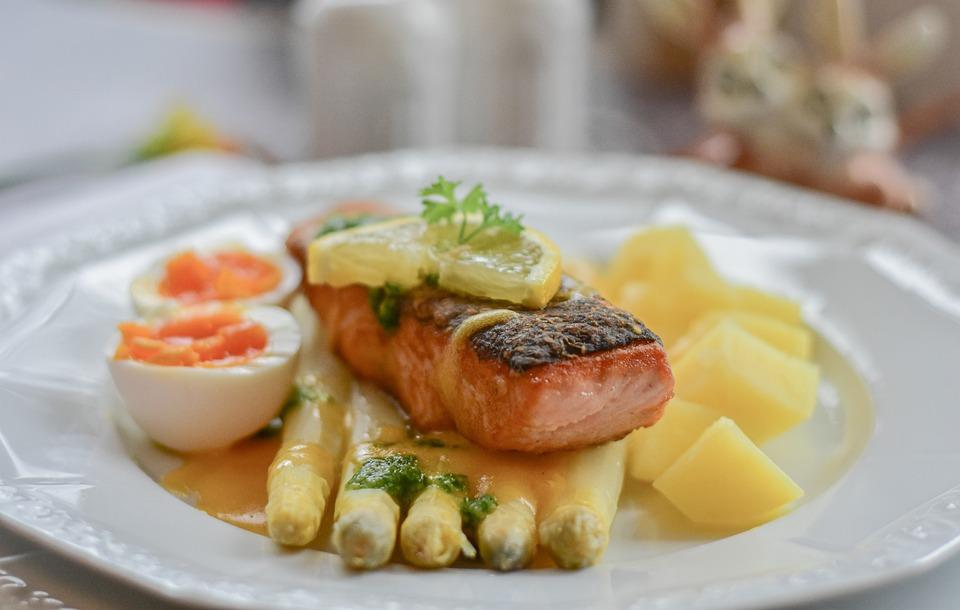 Asparagus, Salmon, Fish, Table, Dine, Gourmet, Festival