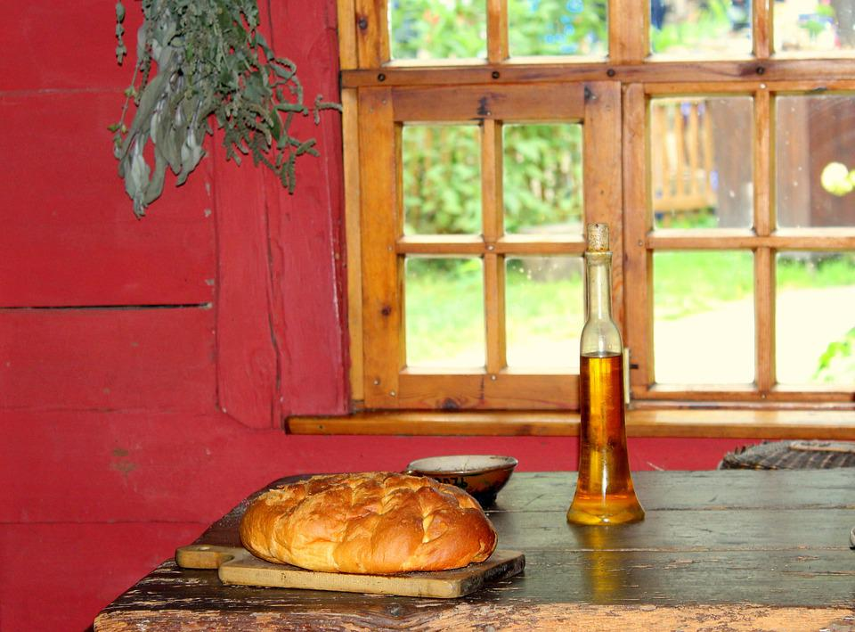 Bread, Cottage, House, Dining Table