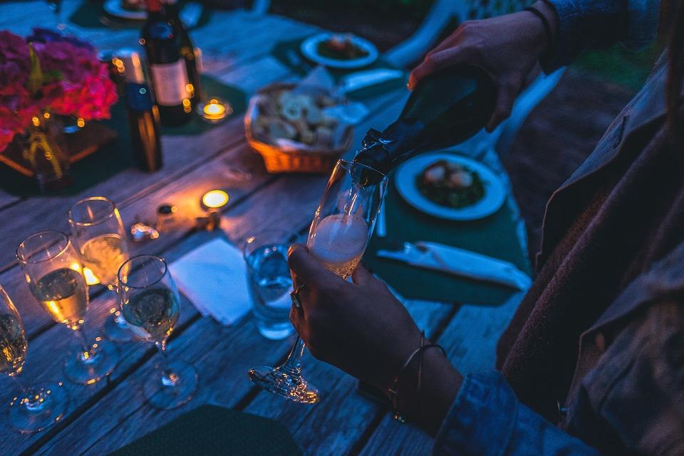 Blur, Celebration, Dark, Dinner, Evening, Glasses