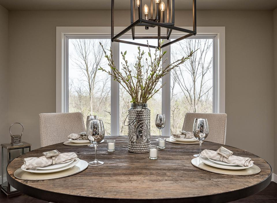 Dining Room, Dinner, Setting, Interior, Decor, Luxury
