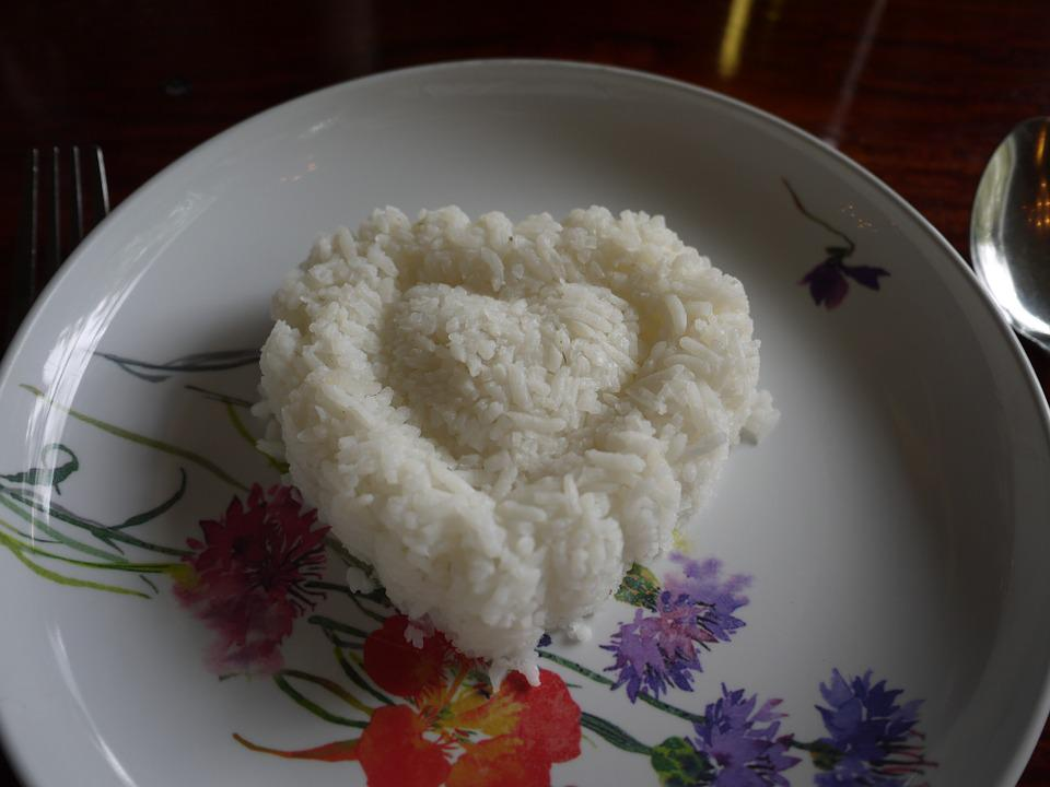 Food, Heart, Rice, Meal, Asian, Grain, Dinner, Love