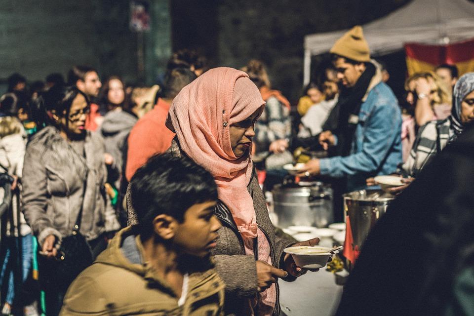 Woman, Crowd, Soup, The Raval, Barcelona, Dinner, Raval