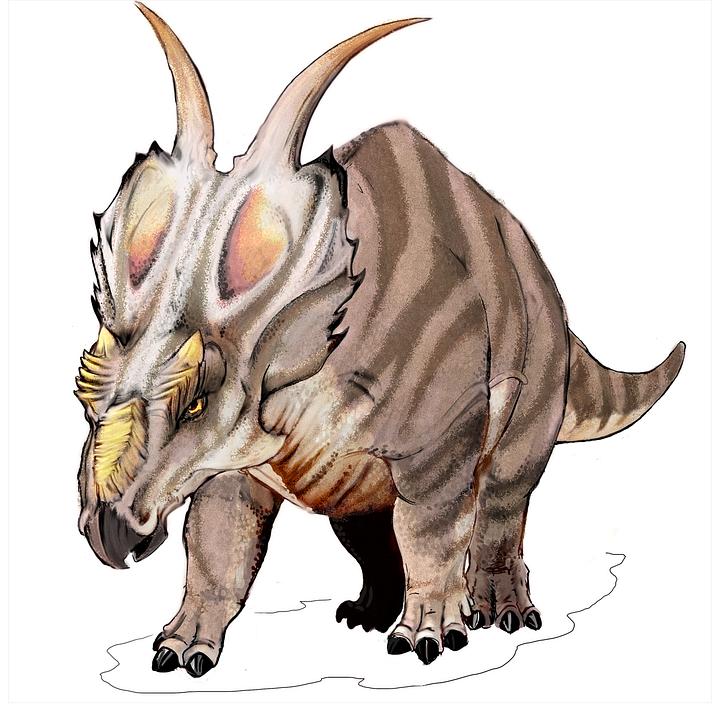 Dinosaur, Giant Lizard, Achelousaurus, Ceratopsian