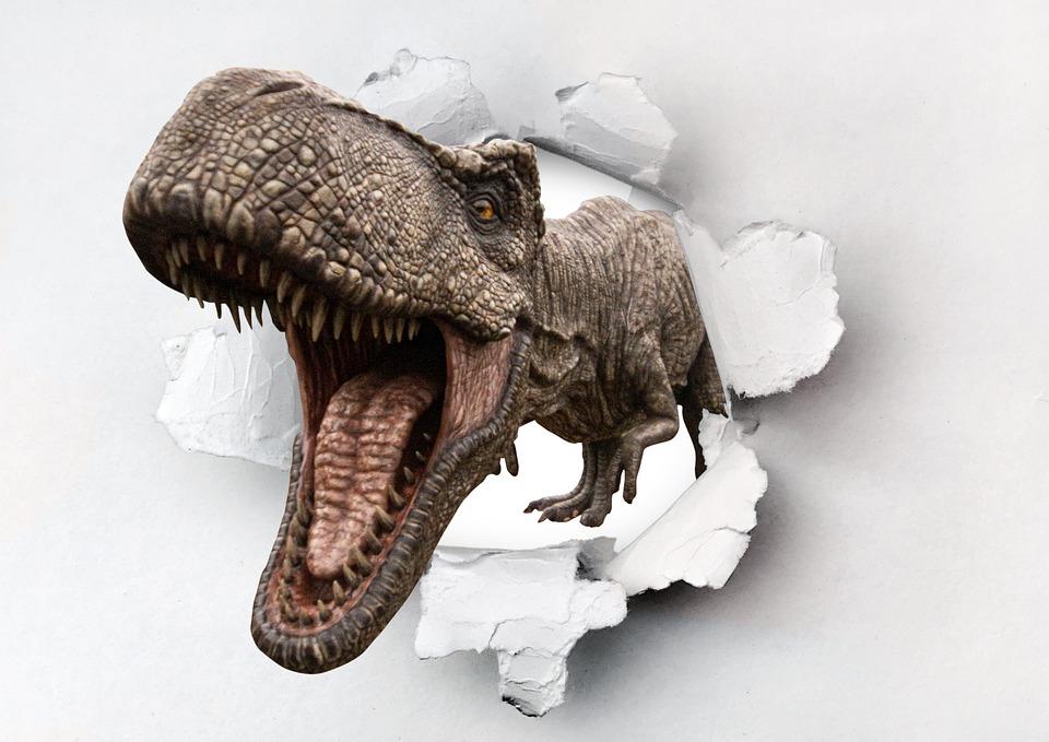 T-rex, Dinosaur, Dino, Monster, Jurassic, Hole