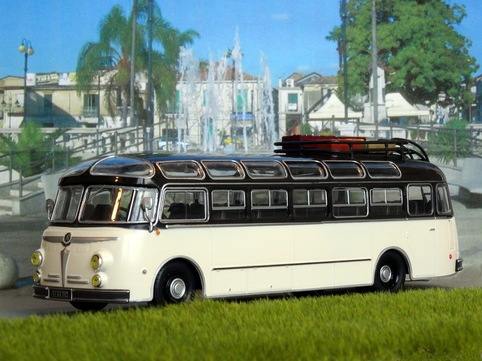 Model Car, Bus, Coach, Oldtimer, Diorama