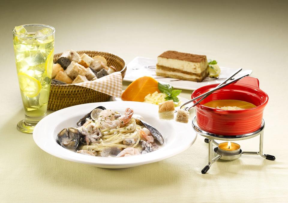 Pasta, Table Tennis - Due, Cheese Cake, Food, Dip