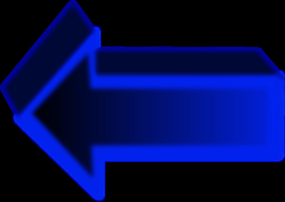 Left, Arrow, Direction, Blue, Sign, Symbol, Icon