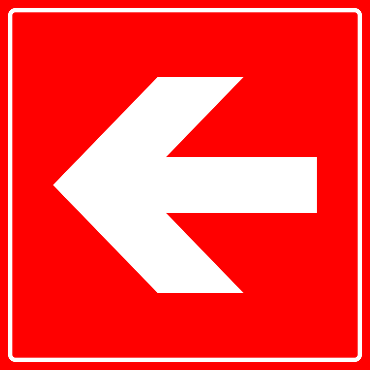 Arrow, Direction, Fire, Left, Red Fire, Red Arrow