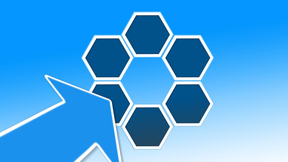 Hexagon, Arrow, Direction, Mark, Target, Note