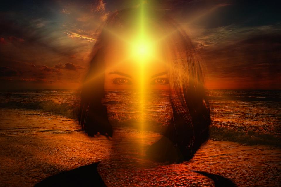 Sunset, Cloud, Woman, Face, Direction, Meditation