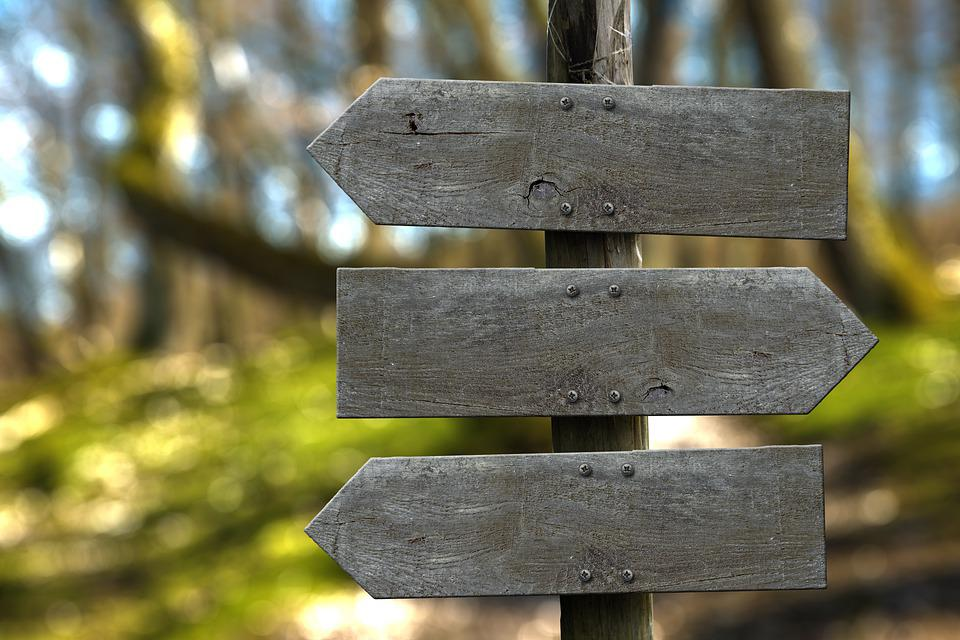 Signpost, Direction, Blank, Wooden Boards, Left, Right