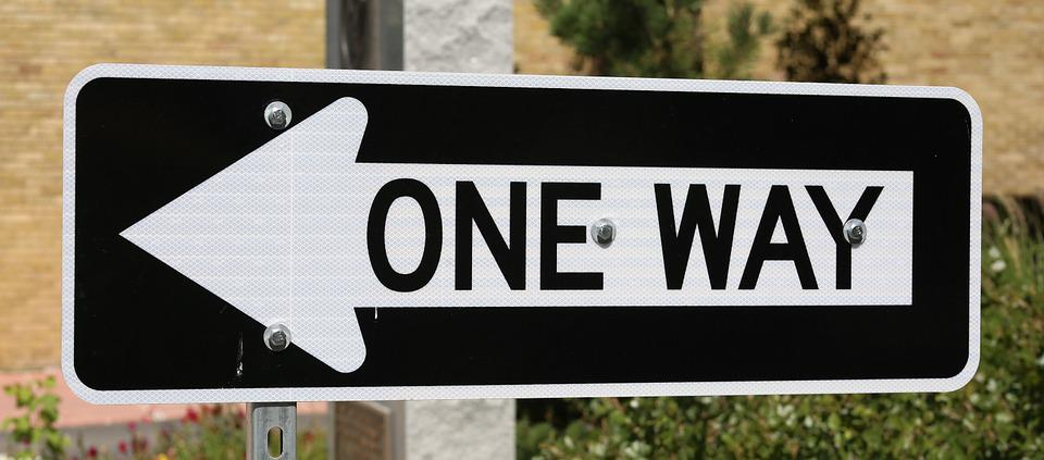 One Way, Traffic Sign, Direction, Road, Arrow