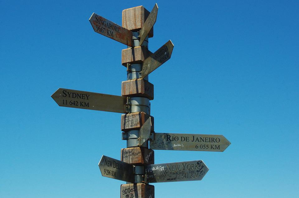 South Africa, Cape, Good Hope, Signpost, Direction