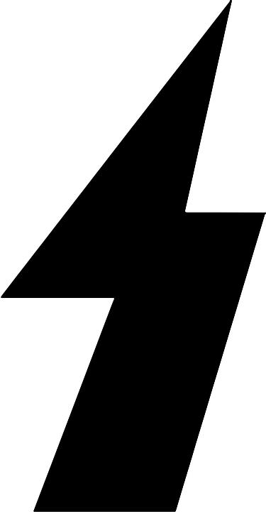 Flash, Symbol, Characters, Direction, Arrow, Black