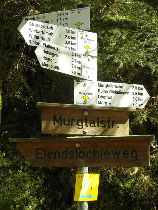 Directory, Murg Valley, Black Forest, High Rhine