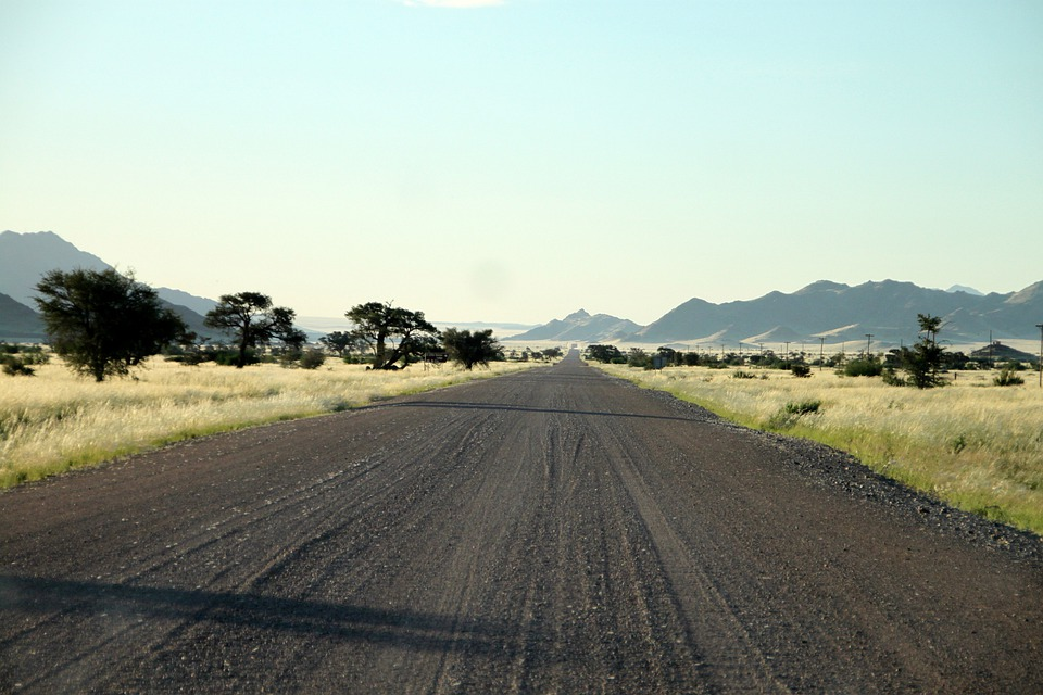 Gravel Road, Dirt Road, Lonely, Street, Hot, Distance