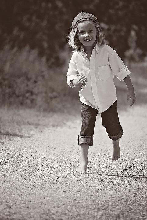 Boy, Walking, Dirt Road, Nature, Outdoors