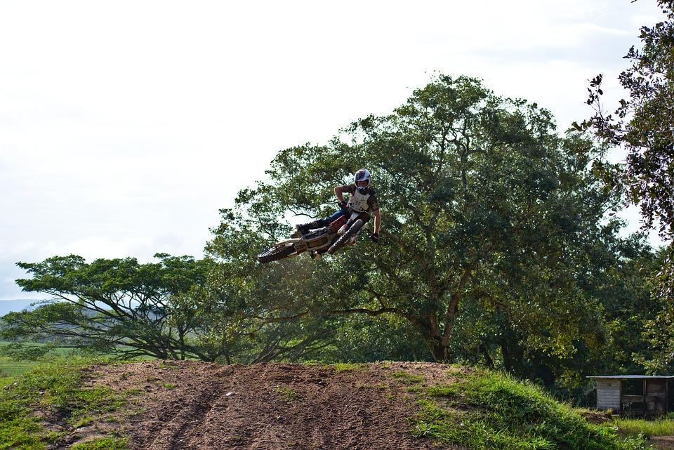 Whip, Dirtbike, Ramp, Jump, Soil, Dirt, Nature, Tree