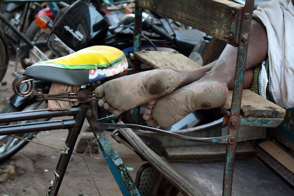 Feet, Poverty, Barefoot, Homeless, Dirty, Sleeping