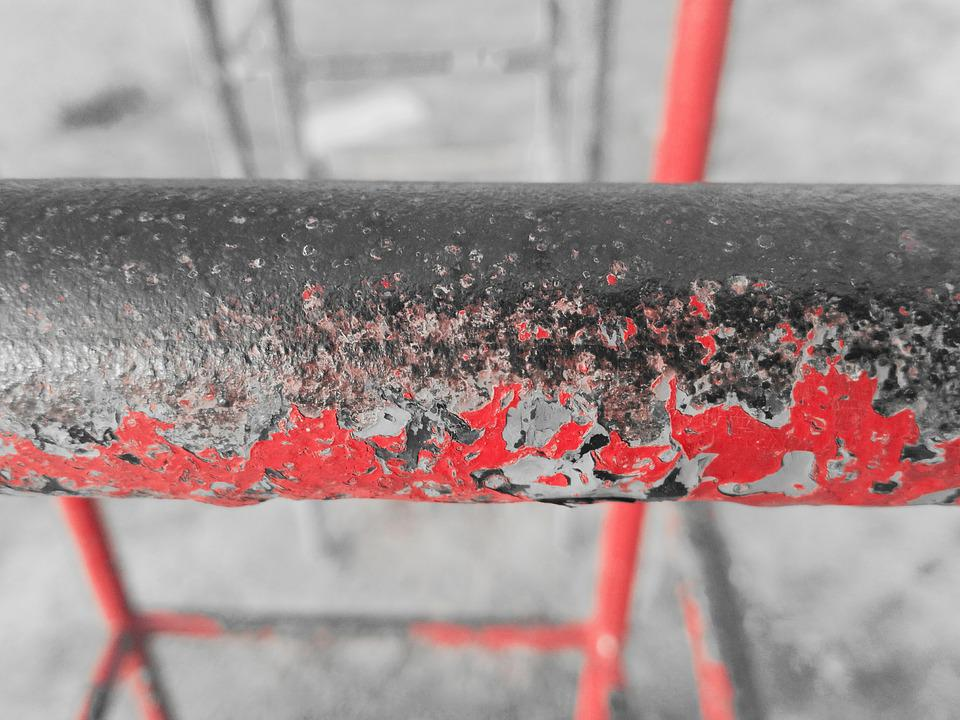 Rod, Old Rod, Old, Red, Color, Swing, Dirt, Dirty, Gray