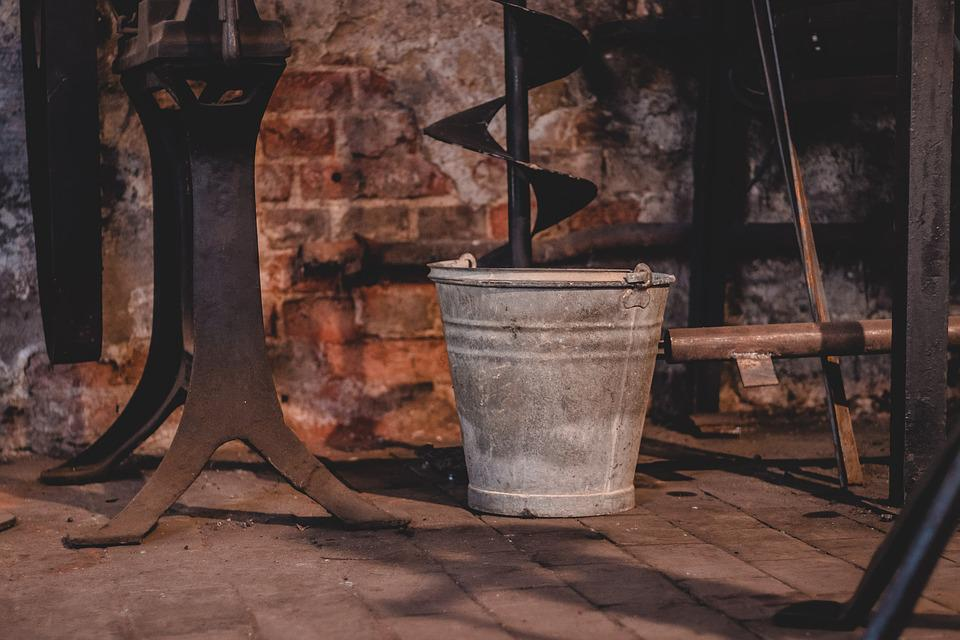 Bucket, Old, Rust, Dirty, Iron, Rusty, Forge