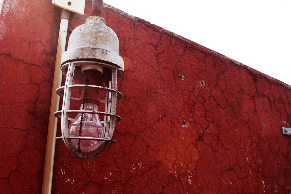 Focus, Red, Roof, City, Dirty, Lamps, Lights Metropolis