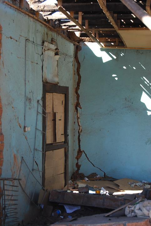 Earthquake, Disaster, Home, Destruction, House, Natural