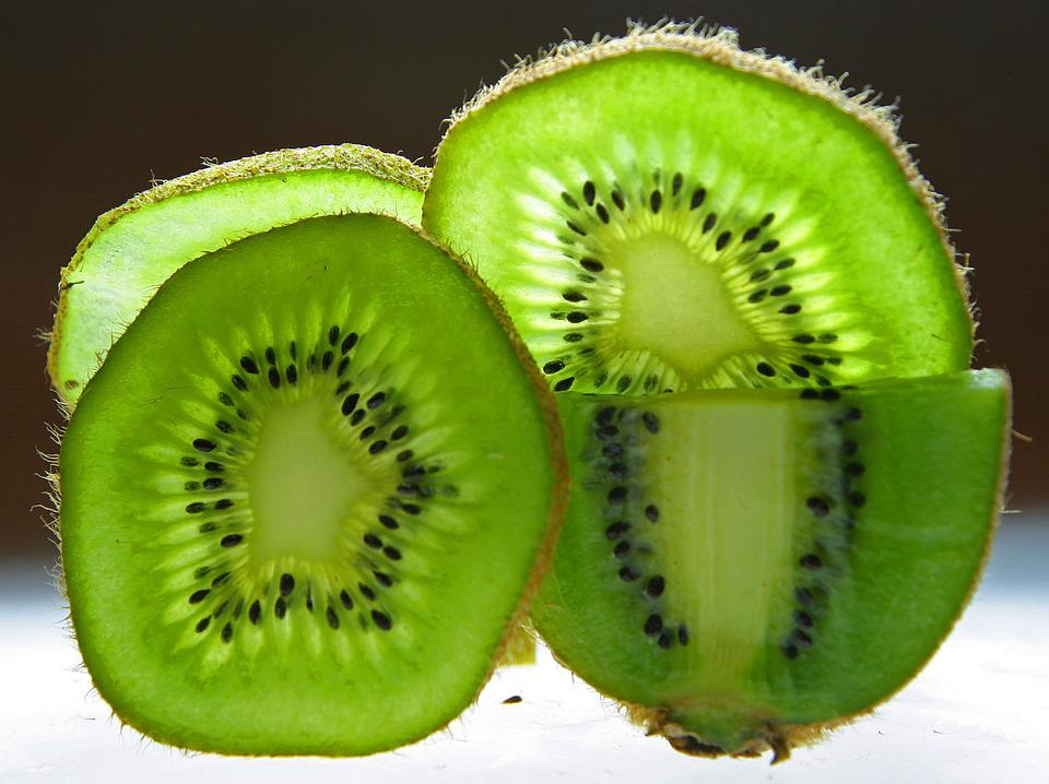 Kiwi, Fruit, Disc, Frisch, Cut