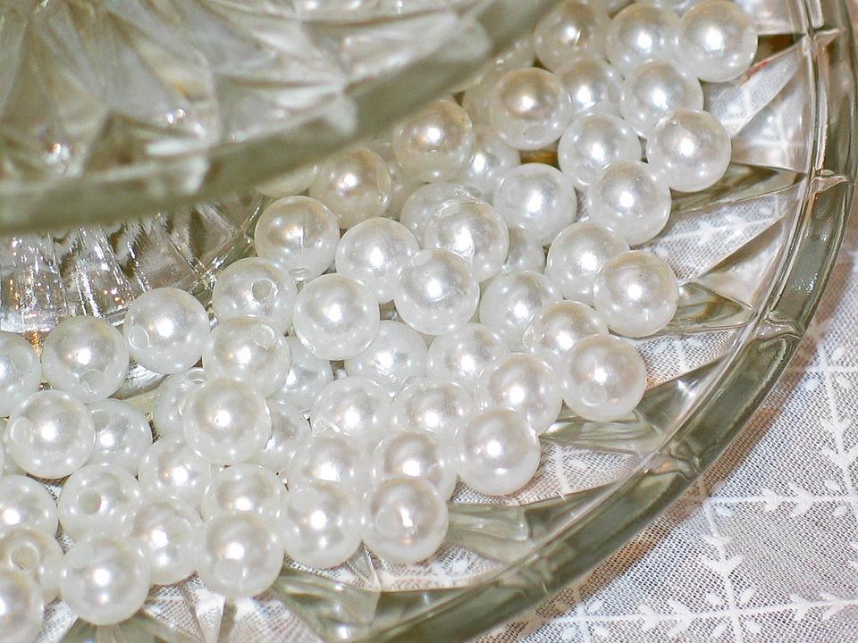 Beads, Foam Beads, Perlmut, Dischdeko, Deco, Jewellery
