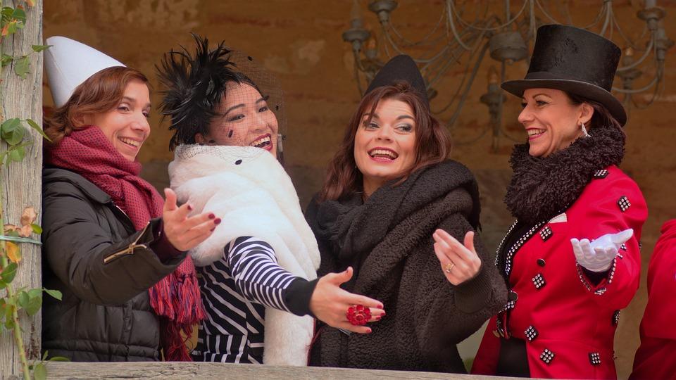 Women, Festival, Disguise, Joy, Celebration
