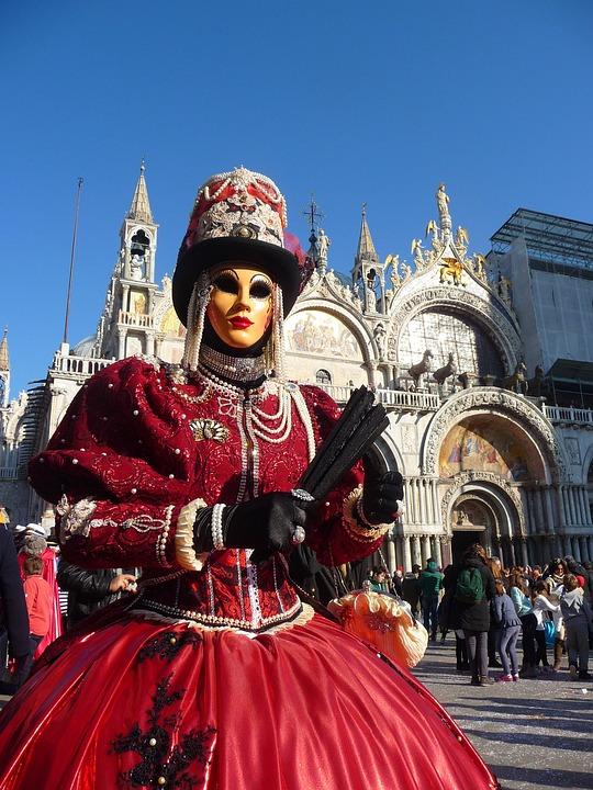 Venice, Carnival, Carnival Of Venice, Disguise, Mask