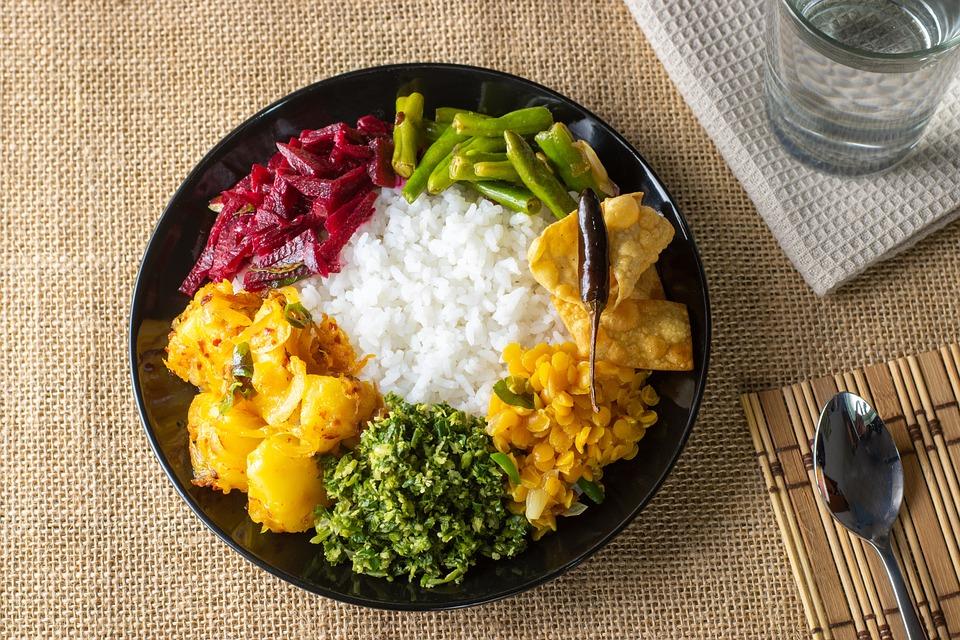 Rice, Food, Dish, Sri Lankan, Cuisine, Curry, Meal
