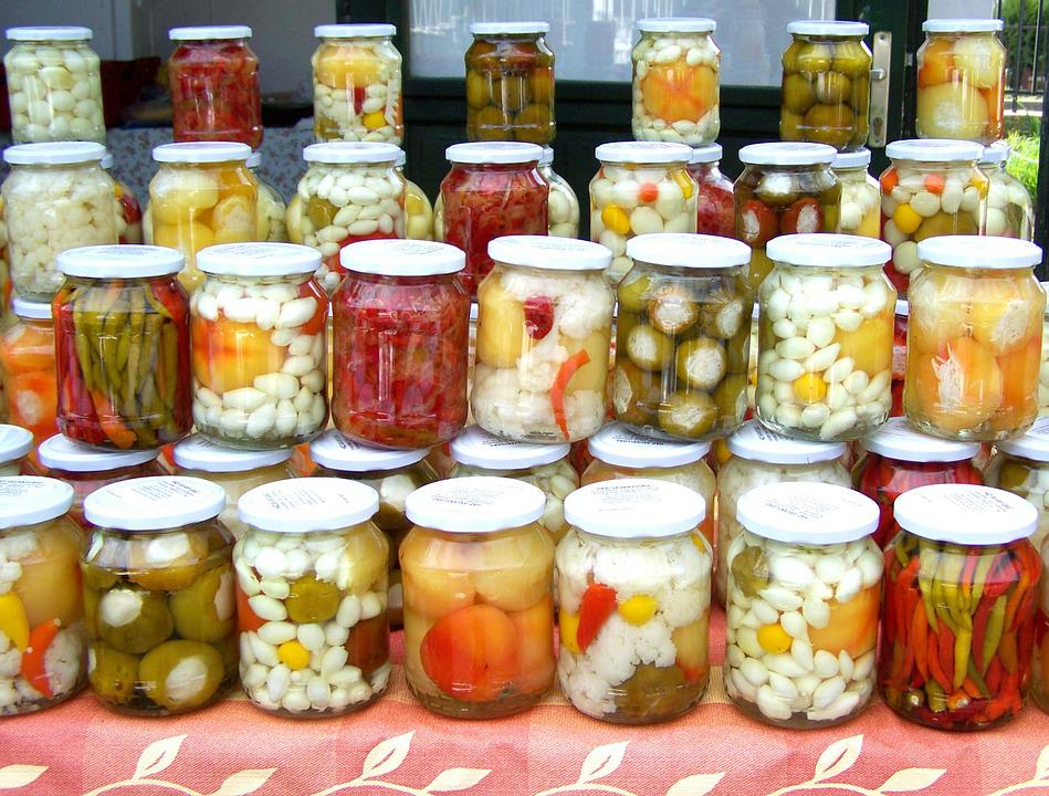 Homemade Pickles, Mixed Pickles, Dish