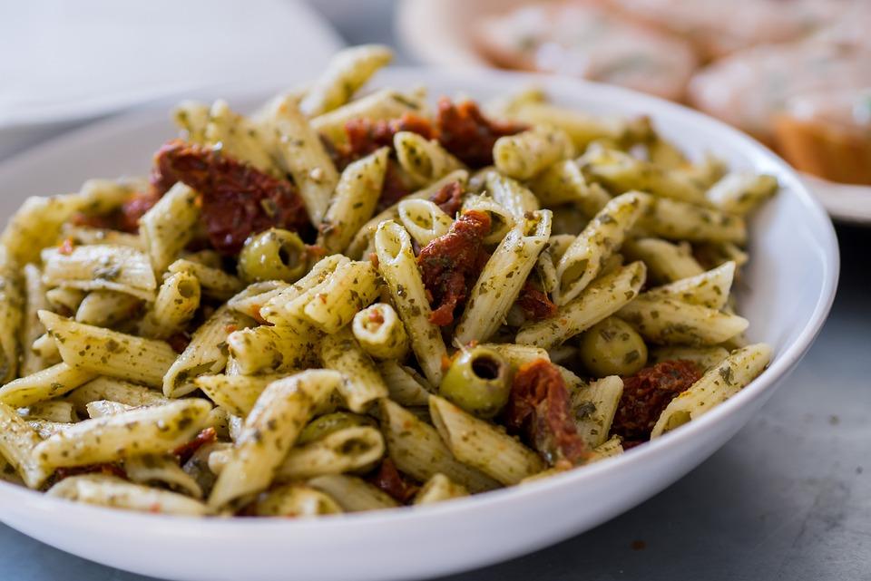 Pasta, Tomato, Italy, Italian, Olive, Salad, Food, Dish
