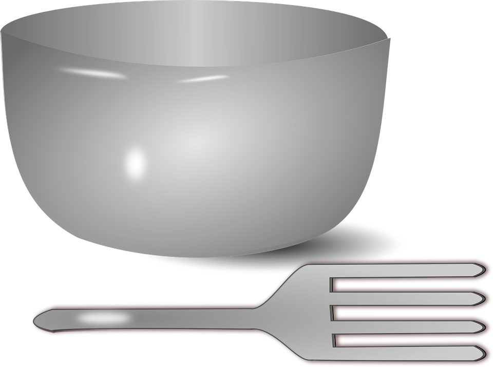 Bowl, Fork, Dishes, Cup, Pan, Grey, Gray, Gray Cup