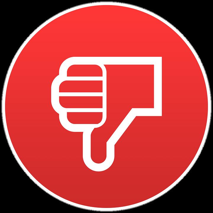Dislike, Emoji, Round, Red