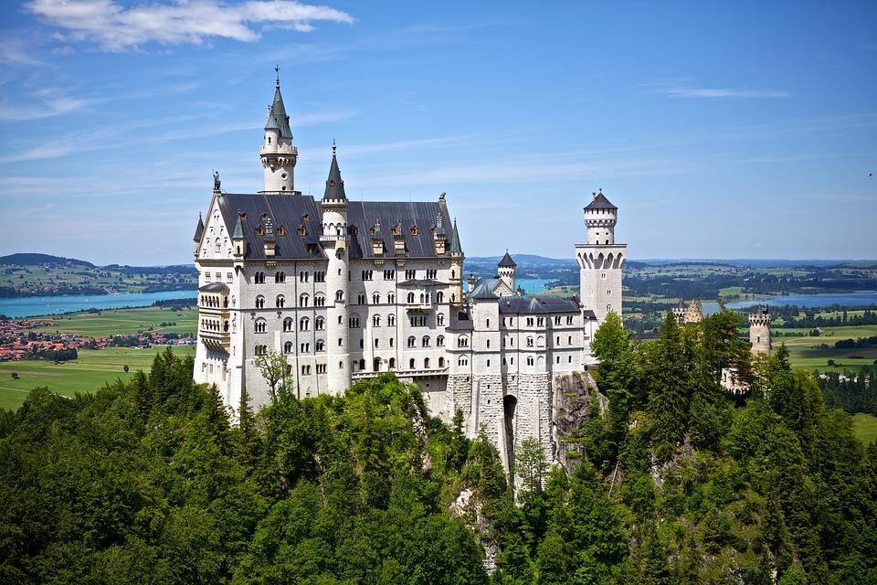 Neuschwanstein, Castle, Germany, Disney, Landmark