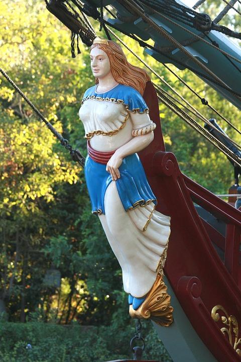 Figurehead, Ship, Columbia, Disneyland, Anaheim