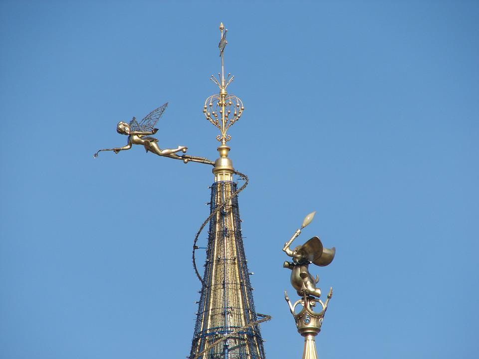 Tinkerbell, Disneyland, Paris, Roof, Castle