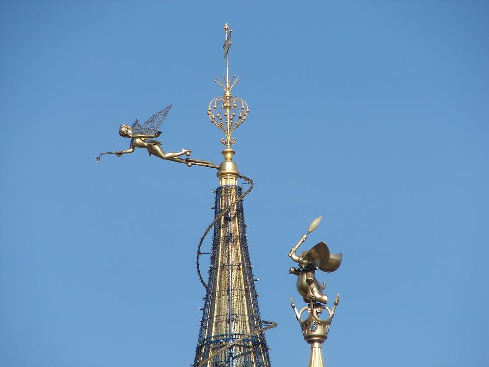 Tinkerbell, Disneyland, Paris, Roof, Castle