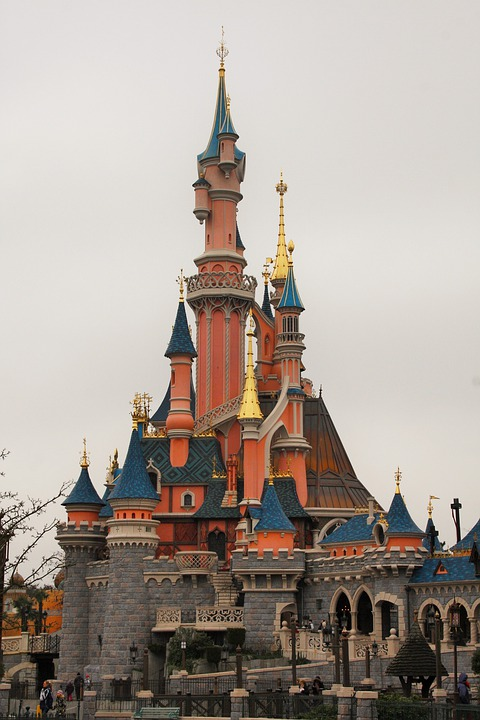 Castle, Sleeping Beauty, Disneyland, Paris, France