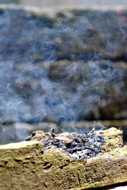 Smoke, Dispersed Smoke, Log, Burning, Burning Log