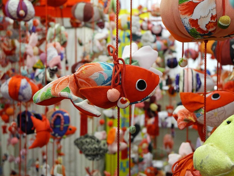 Doll, Hina, Tsuribina, Japanese, Toy, Display, Fish