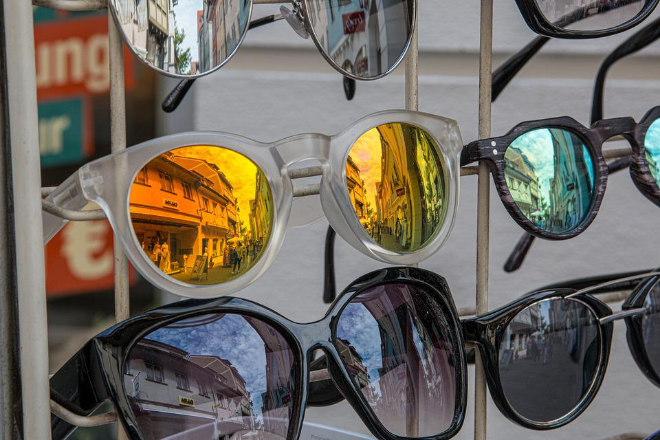 Business, Display, Glasses, Mirroring, Trade, Shopping