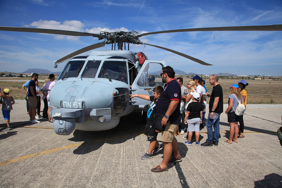 Helicopter, Display, Airfield, Greece
