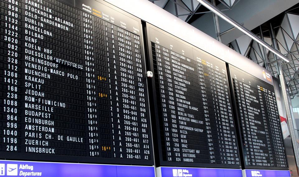 Ad, Airport, Departures, Timeline, Display Panel