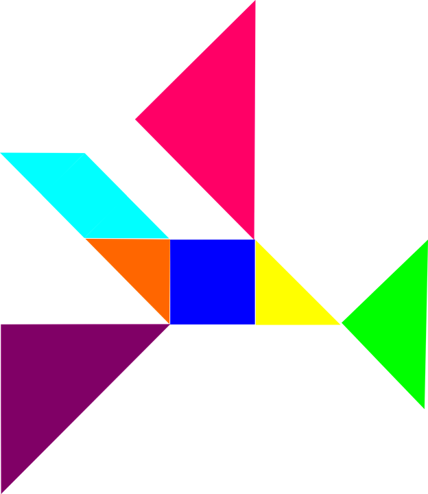 Puzzle, Tangram, Dissection Puzzle, Dissection, Shapes