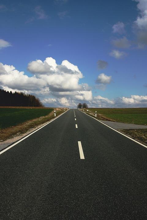 Road, Clouds, Away, Landscape, Asphalt, Distant