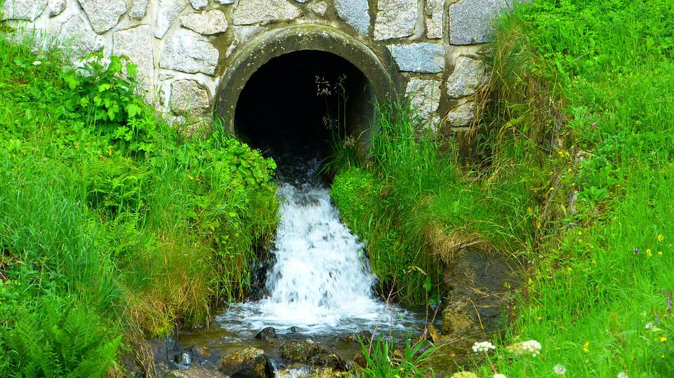 Pipe Size Flow Chart For Water: Free photo Ditch Water The Flow Of Pipe Stream The Mouth - Max Pixel,Chart